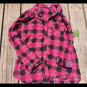 🌿Urban Outfitters BDG Plaid Embroidered Flannel